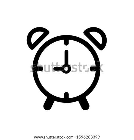 Alarm clock icon, vector illustration. Flat design style. vector alarm clock icon illustration isolated on white, alarm clock icon Eps10. alarm clock icons graphic design vector symbols.