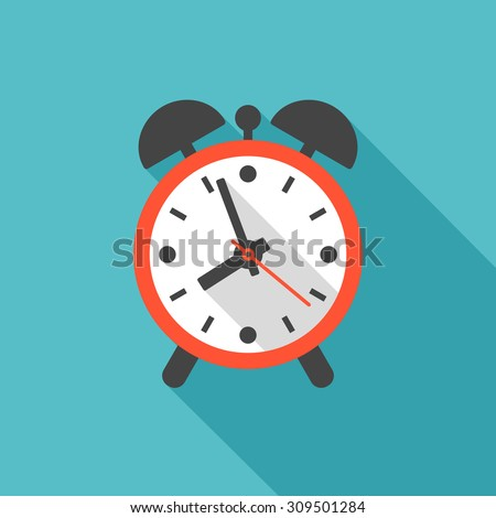 alarm clock icon with long