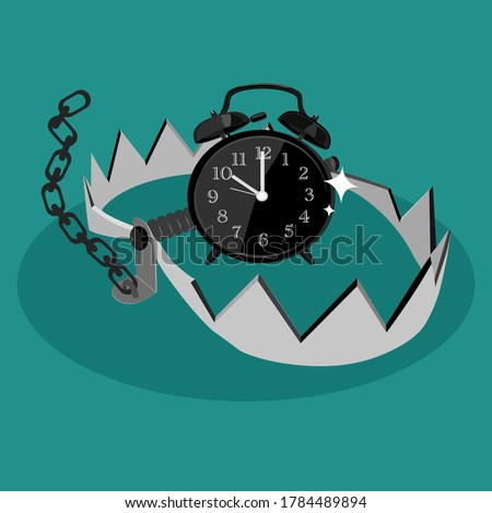 alarm clock in bear trap the
