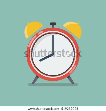 alarm clock in flat style