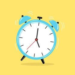 Alarm Clock isolate on yellow background.