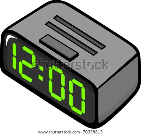 alarm clock radio stock vector illustration 70358815 shutterstock. Black Bedroom Furniture Sets. Home Design Ideas