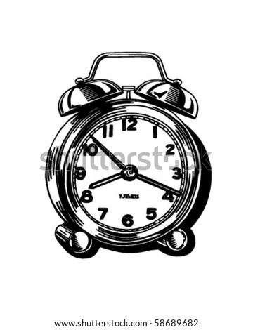 Alarm Clock - Retro Clip Art