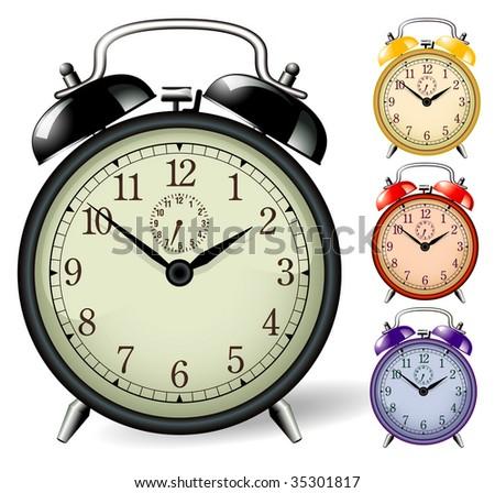Alarm clock. Vector.