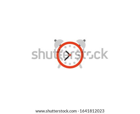 Alarm clock vector flat icon. Isolated alarm clock emoji illustration