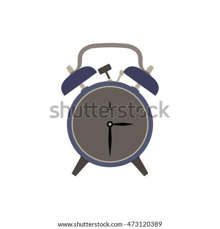 alarm clock vector front view