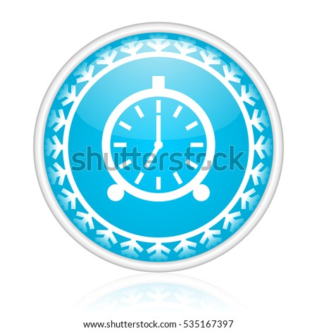 alarm clock vector icon winter