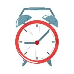 alarm clock wake up time icon flat design vector illustration