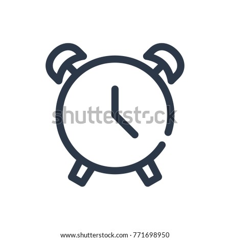 Alarm icon. Isolated icon on clock and alarm icon line style. Premium quality vector symbol drawing alarm icon concept for your logo web mobile app UI design.