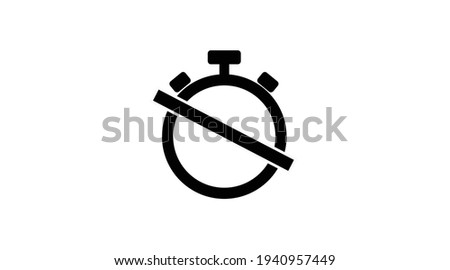 alarm off icon vector isolated