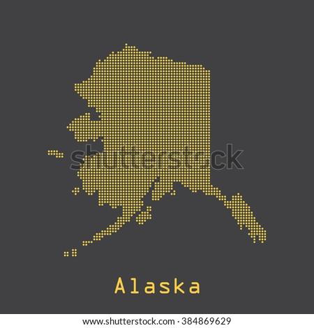 alaska abstract dots map