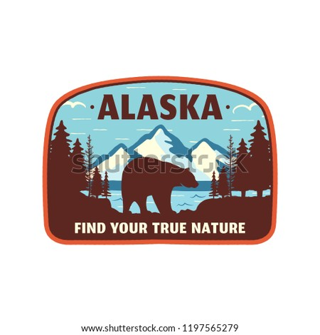 alaska badge design mountain