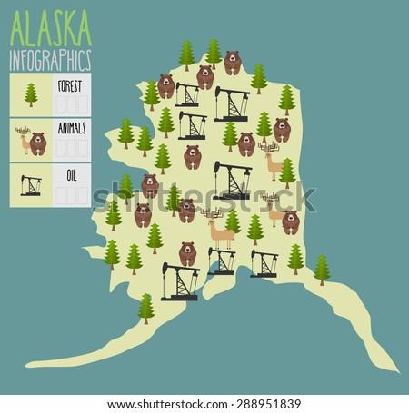 alaska map natural resources
