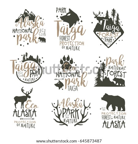 alaska national park labels set