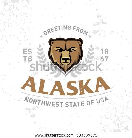 alaska old school textured t