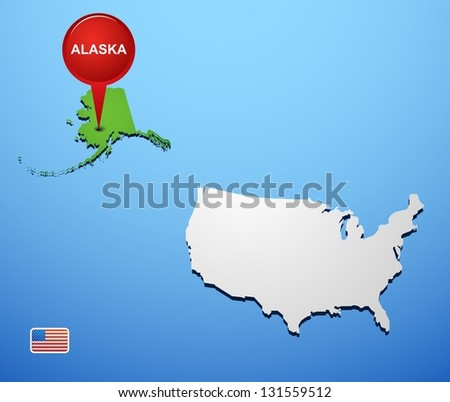 Alaska on USA map