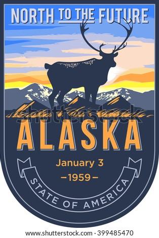alaska state emblem  the dawn