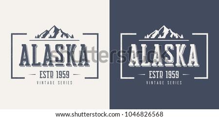 alaska state textured vintage...