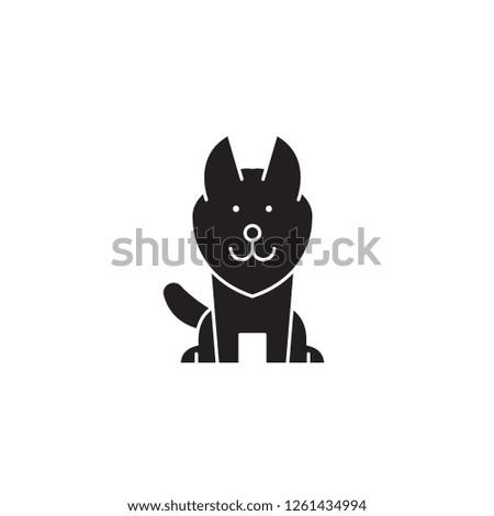 alaskan malamute black vector