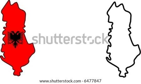 Albania Map Vector Albania Map