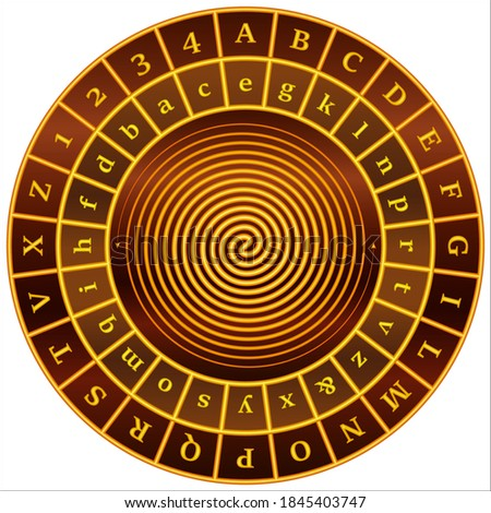 Alberti cipher disk - cipher wheel  Foto stock ©