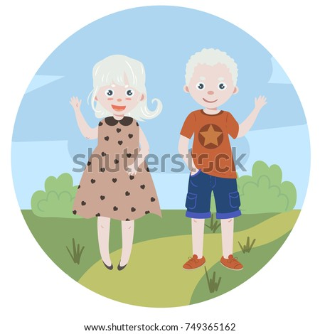 albino kids albinism children