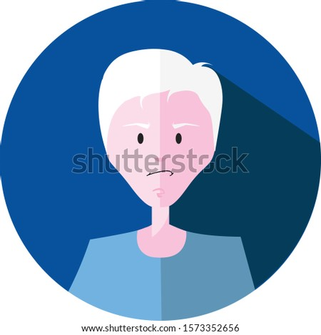 albinos young boy emotions