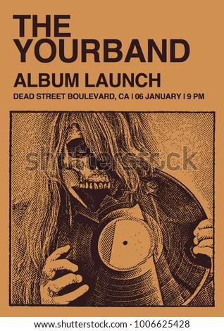 album launch poster flyer art...