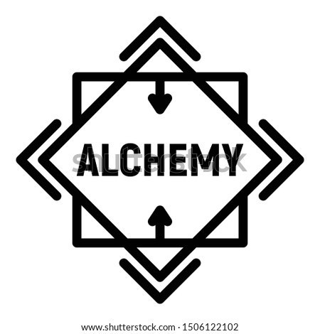 Alchemy icon. Outline alchemy vector icon for web design isolated on white background