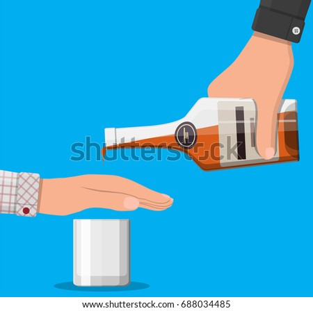 alcohol abuse concept hand