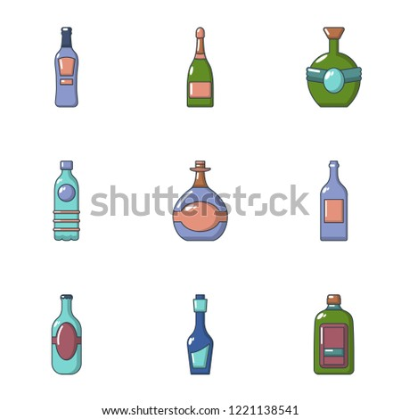 alcohol abuse icons set