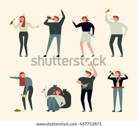 alcohol drink bad people vector