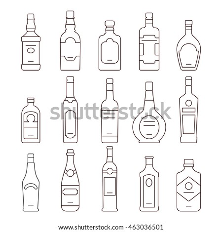 alcohol drink bottles types of
