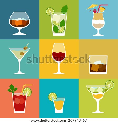 alcohol drinks and cocktails