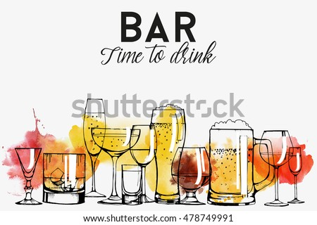 alcohol drinks banner design