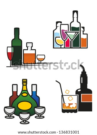 alcohol drinks symbols and