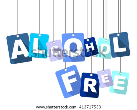 alcohol free  blue vector