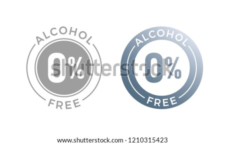 Alcohol free vector icon for cosmetic product or medical alcohol free symbol