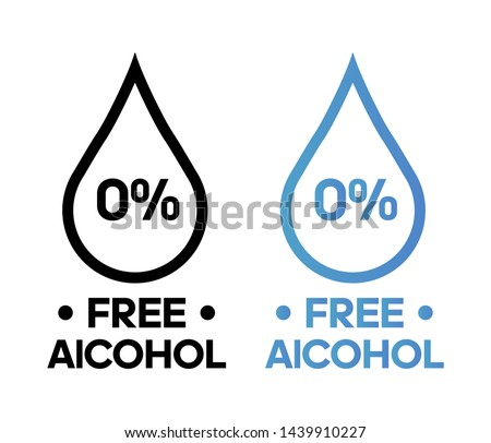 Alcohol free vector icon illustration