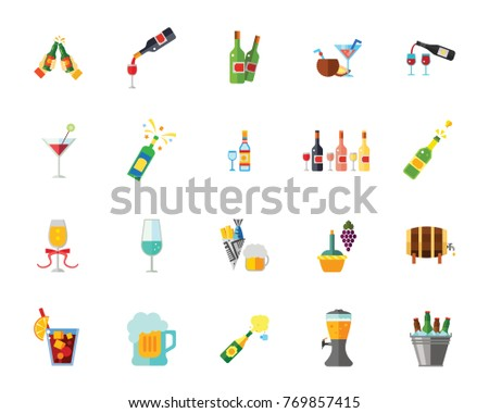 Alcohol icon set