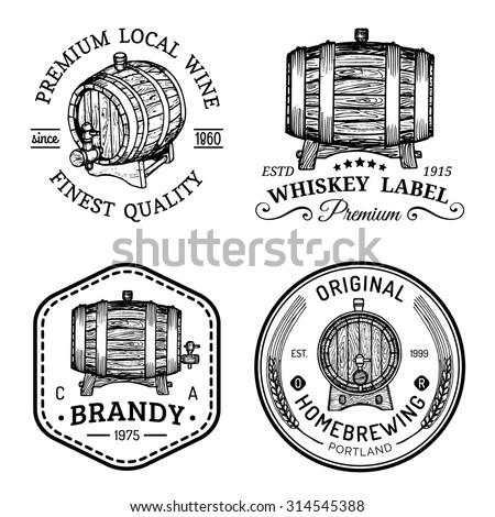 alcohol logos wooden barrels
