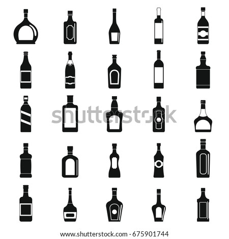 alcohol simple black silhouette