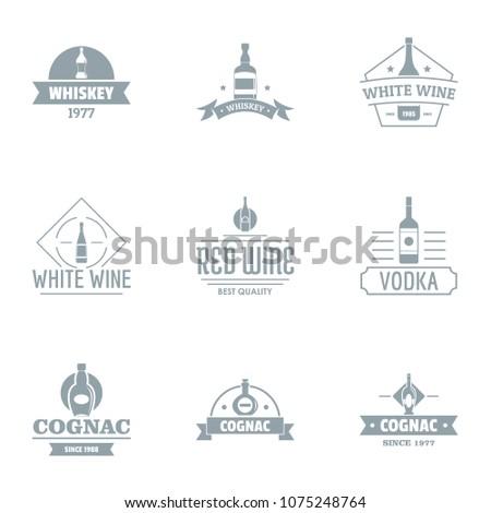 alcoholic beverage logo set