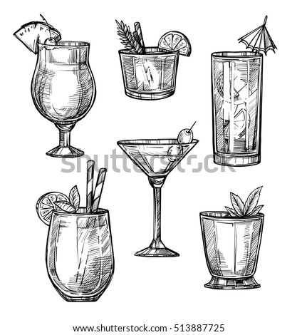 alcoholic cocktail glass hand
