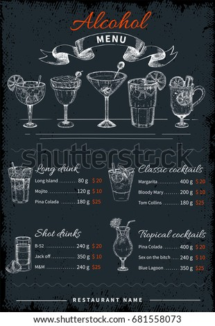 alcoholic drinks and cocktails
