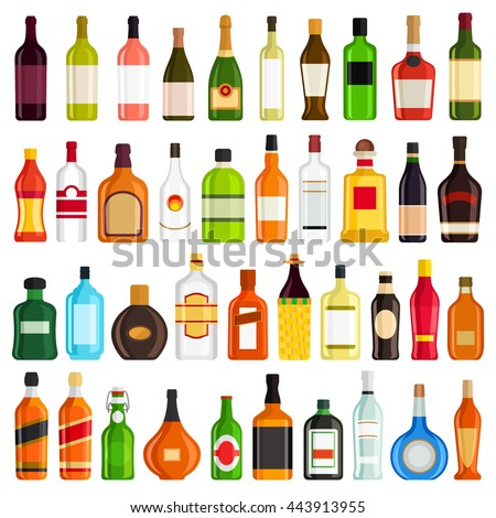 alcoholic drinks bottles large