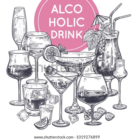 alcoholic drinks poster glass