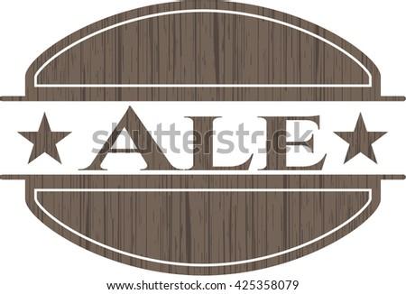 Ale retro style wood emblem