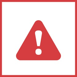 Alert sign icon. Exclamation sign. Vector illustration.