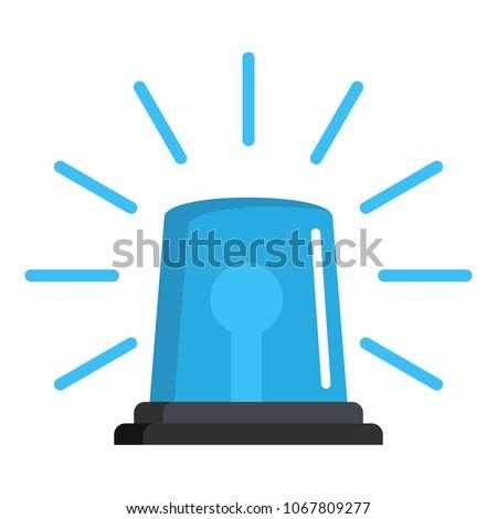Alert urgent brigade siren icon. Flat illustration of alert urgent brigade siren vector icon for web